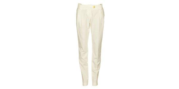 Dámske biele nohavice Pietro Filipi so zlatými gombíkmi