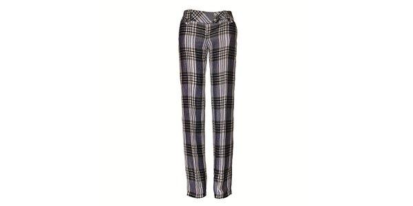 Dámske čiernobiele kockované nohavice Pietro Filipi