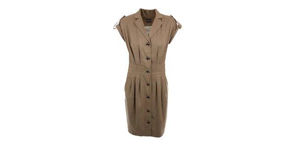 Dámske béžové šaty Pietro Filipi