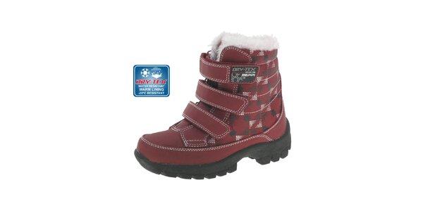 Detské červené zimné topánky Beppi