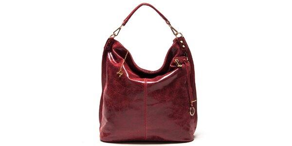 Dámska červená kabelka s jedným uchom Luisa Vannini