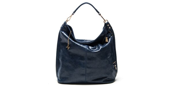Dámska modrá kabelka s jedným uchom Luisa Vannini
