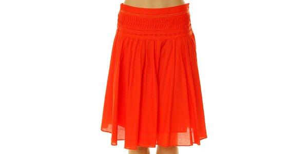 Dámska červená bavlnená sukňa Roberto Verino