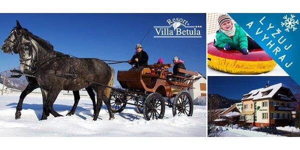 Zimná rodinná dovolenka plná aktivít na Liptove