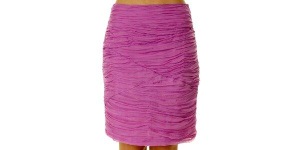 Dámska ružová sukňa s kaskádami Roberto Verino