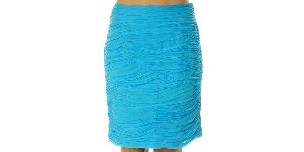 Dámska tyrkysová sukňa s kaskádami Roberto Verino