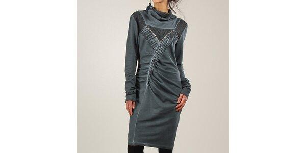 e433b743c740 Dámske šedo-modré šaty s dlhým rukávom Angels Never Die
