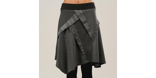 ed875545b6d7 Dámska antracitová sukňa s elastickým pásom Angels Never Die