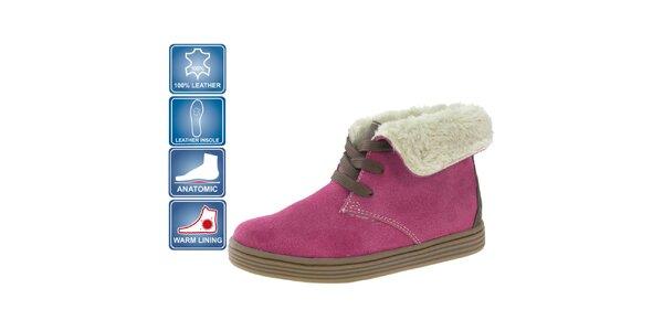 Detské ružové semišové topánky Beppi
