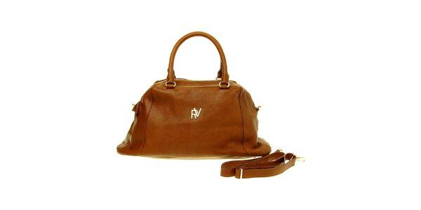 Dámska hnedá kabelka Roberto Verino s odopínateľným popruhom