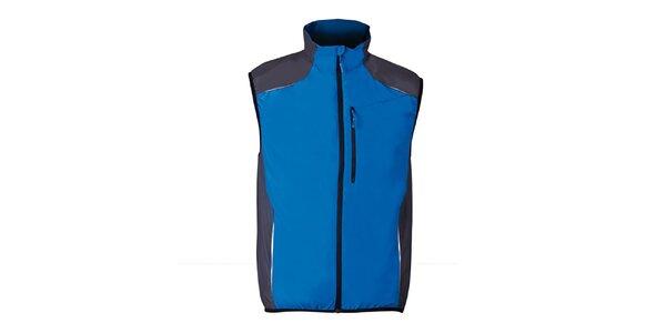 Modrá bežecká vesta so šedými prvkami Furco