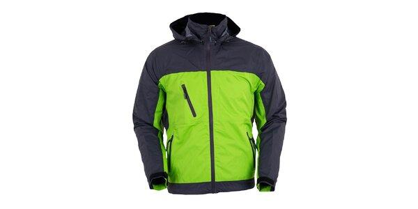 Pánska šedo-zelená funkčná bunda Furco