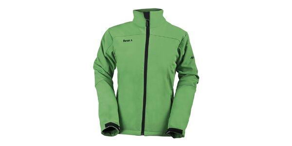 Dámska zelená softshellová bunda s golierom Furco