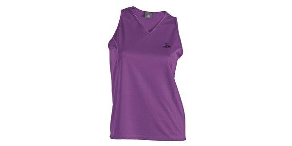 Dámske fialové funkčné tričko bez rukávov Furco