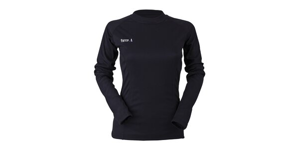 Dámske čierne funkčné tričko s dlhým rukávom Furco