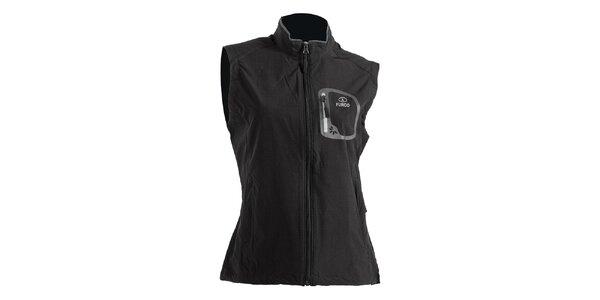 Dámska čierna softshellová vesta Furco