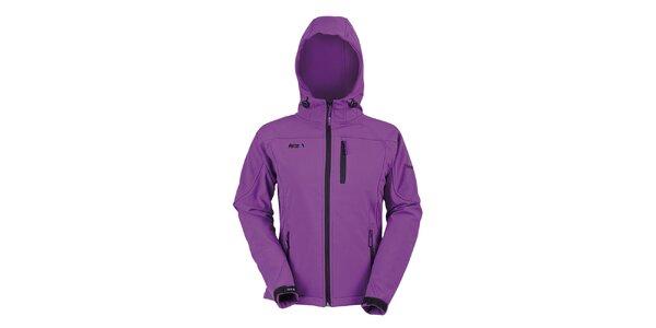 Dámska fialová softshellová bunda s kapucňou Furco