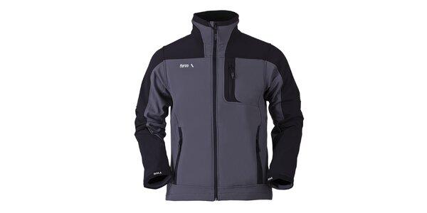Pánska šedo-čierna softshellová bunda Furco