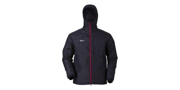 Pánska čierna bunda s kapucňou Furco