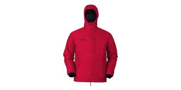 Pánska červená bunda s kapucňou Furco