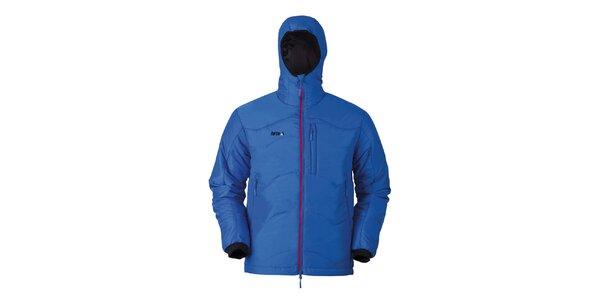 Pánska modrá bunda s kapucňou Furco