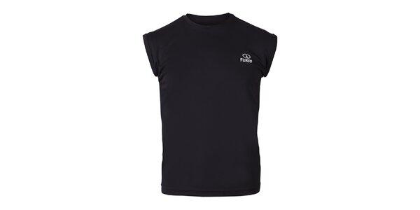 Pánske čierne tričko bez rukávov Furco