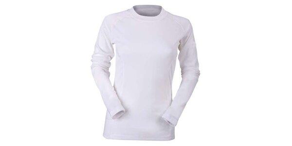 Dámske biele funkčné tričko s dlhým rukávom Furco