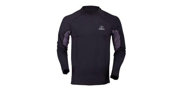 Pánske čierno-šedé termo tričko Furco
