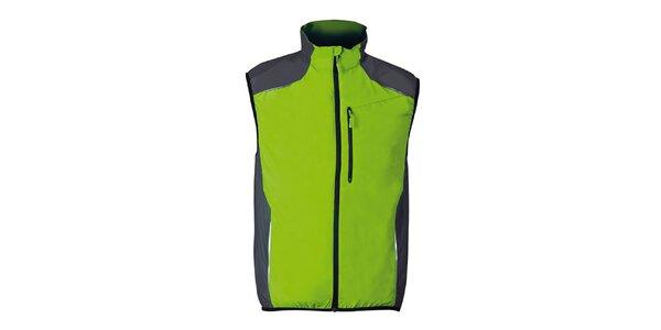 Zelená bežecká vesta so šedými prvkami Furco