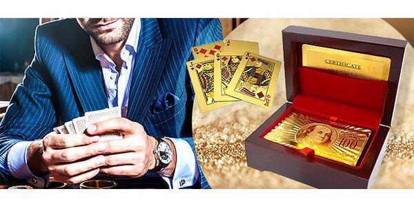 Exkluzívny balíček zlatých hracích kariet v luxusnom darčekovom boxe, Poštovné…