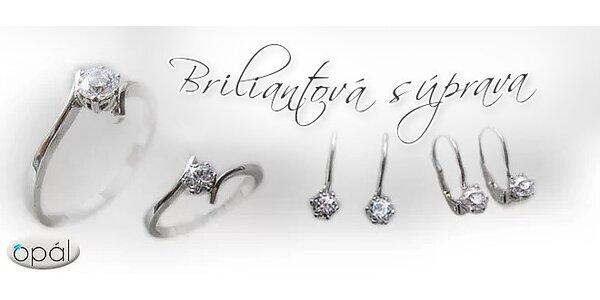 Náušnice alebo prsteň osadený nádherným briliantom