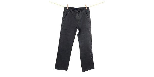 Pánske šedé rovné nohavice Fundango