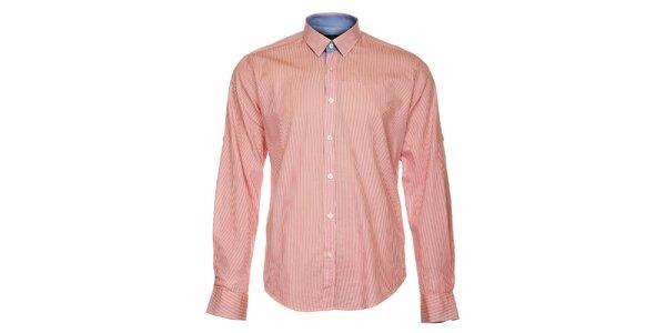 Pánska ružová prúžkovaná košeľa Pietro Filipi