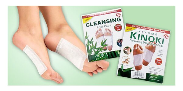 Detoxikačné náplaste KINOKI. Očistná kúra pre vaše telo.
