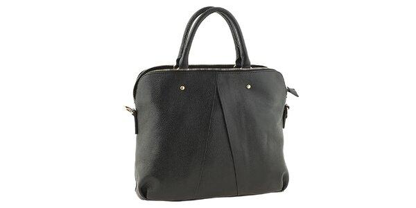 Dámska čierna kožená kabelka Tina Panicucci