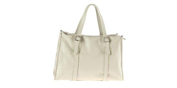 Dámska obdĺžniková kabelka v krémovej farbe Tina Panicucci