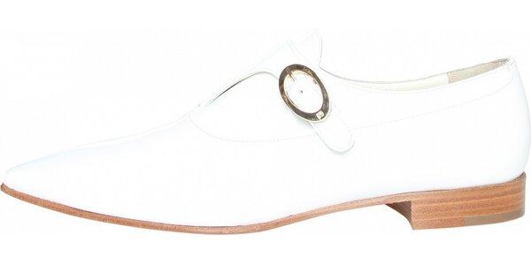 Dámske biele kožené polobotky Fratelli Rossetti
