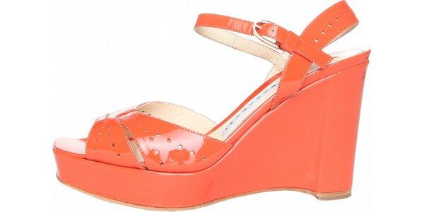Dámske korálovo ružové pásikové topánky Fratelli Rossetti