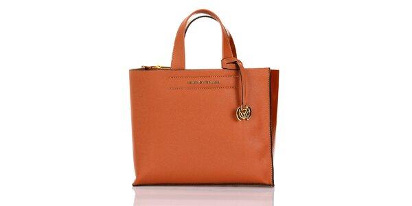 Dámska oranžová kabelka s príveskom Giorgio di Mare