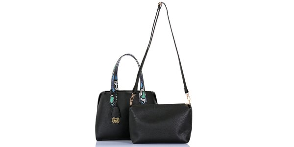 Dámska čierna kabelka s vyberateľnou taštičkou Giorgio di Mare