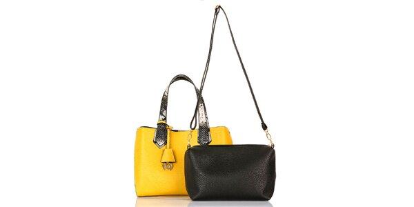 Dámska žltá kabelka s vyberateľnou taštičkou Giorgio di Mare