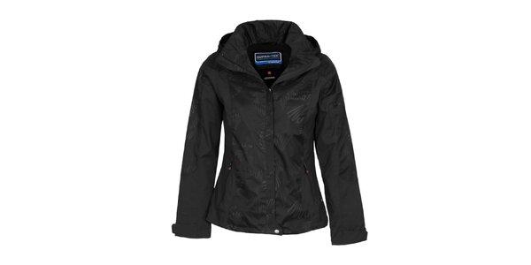 Dámska čierna bunda s potlačou Bergson