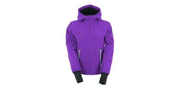 Dámska fialová softshellová bunda s kapucňou Izas