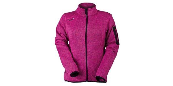 Dámska fuchsiová fleecová bunda Izas