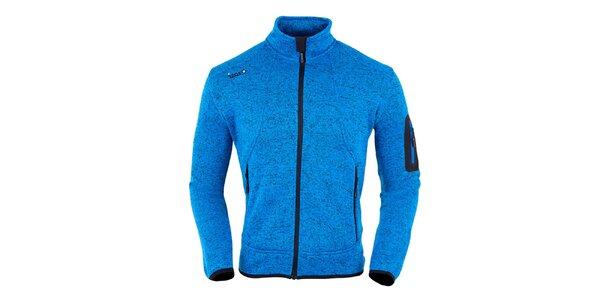 Dámska modrá melírovaná fleecová bunda Izas