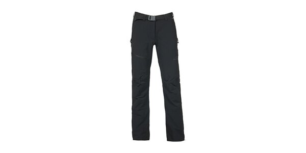 Dámske čierne nohavice s opaskom Bergson