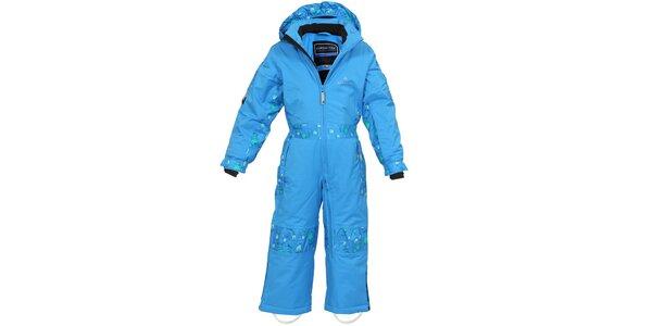 Detská modrá funkčná lyžiarska kombinéza Bergson
