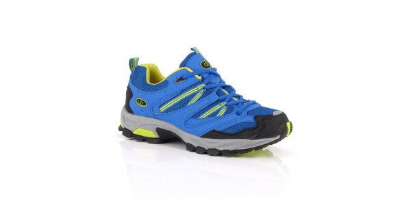 Modro-žlté nízke outdoorové topánky Kimberfeel
