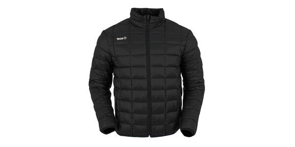 Pánska čierna prešívaná bunda Izas