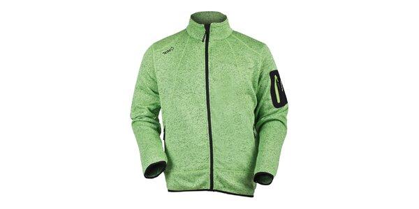 Pánska svetlo zelená fleecová mikina Izas